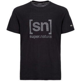 super.natural M's Essential I.D. Tee Jet Black/Print